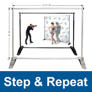 Step and Repeat Backdrop Stands 8'x8'