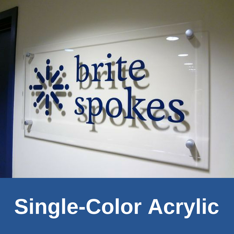 Acrylic Standoff Signs | Single Color