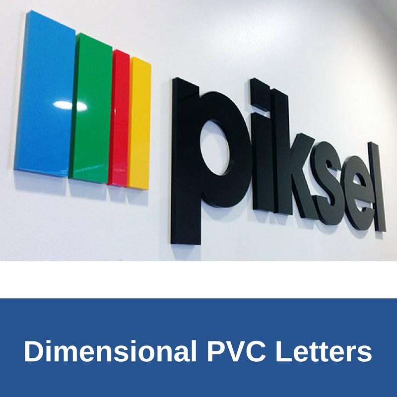 3D PVC Letters