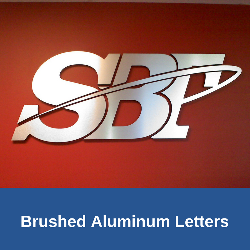 3D Brushed Aluminum Letters